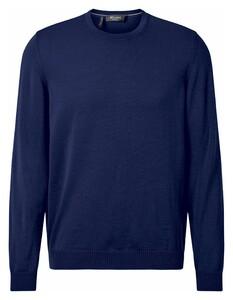 Maerz Uni Merino Superwash Pullover Blue Velvet