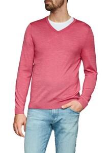 Maerz V-Neck Merino Extrafine Pullover Hot Pink