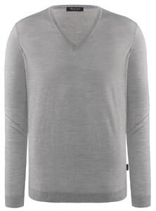 Maerz V-Neck Merino Extrafine Pullover Stone Grey