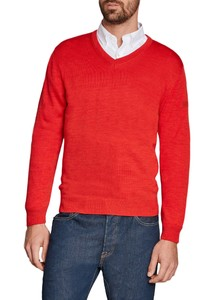 Maerz V-Neck Merino Superwash Pullover Bell Pepper