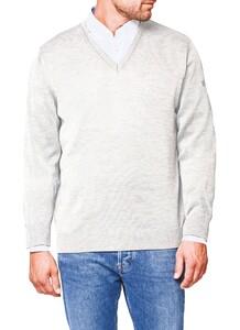 Maerz V-Neck Merino Superwash Pullover Clear White