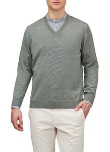 Maerz V-Neck Merino Superwash Pullover Greenery