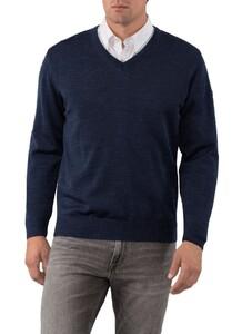 Maerz V-Neck Merino Superwash Pullover Orient Blue
