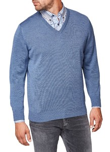 Maerz V-Neck Merino Superwash Pullover Pigeon