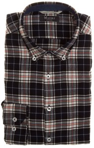 Maerz Warm Checkered Shirt Black