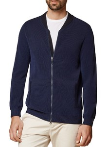 Maerz Zip Cardigan Cardigan Deep Inkblue