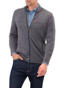 Maerz Zip Merino Extrafine Vest Blue Jeans
