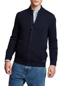 Maerz Zipper Button Cardigan Vest Navy
