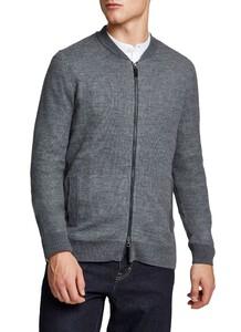 Maerz Zipper Cardigan Vest Leaden Grey