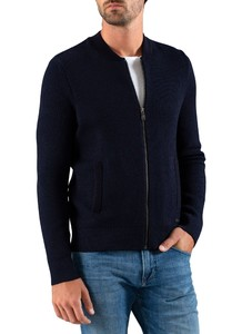 Maerz Zipper Merino Superwash Vest Navy