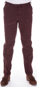 MENS Madeira Cotton Lederfinish Broek Bordeaux