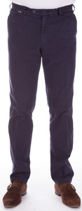 MENS Madeira Cotton Lederfinish Broek Navy