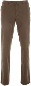 MENS Madison Flat-Front Cotton Broek Bruin