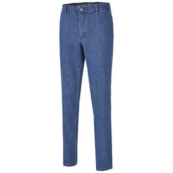 MENS Madison Modern-Fit Xtend Flat-Front Jeans Jeans Light Blue