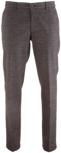 MENS Madison Wool-Look Check Broek Antraciet
