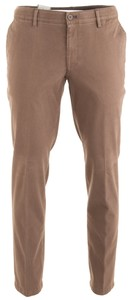 MENS Madison XTEND Contrasted Flat-Front Cotton Broek Midden Bruin