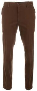 MENS Madison XTEND Flat-Front Cotton Broek Donker Bruin