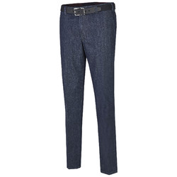 MENS Madrid Comfort-Fit Flat-Front Xtend Jeans Jeans Dark Denim Blue