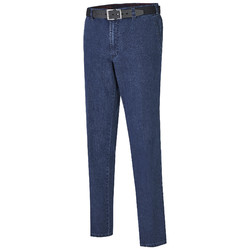 MENS Madrid Comfort-Fit Flat-Front Xtend Jeans Jeans Denim Blue