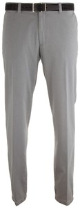 MENS Madrid Comfort-Fit Structured Flat-Front Broek Licht Grijs