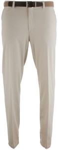MENS Madrid Comfort-Fit Structured Flat-Front Broek Stone