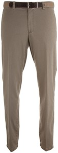 MENS Madrid Comfort-Fit Structured Flat-Front Broek Zand