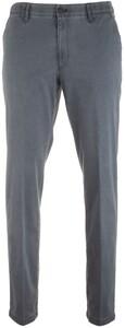 MENS Meran Fine-Structure Flat-Front Pants Blue