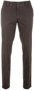 MENS Meran Fine-Structure Pants Dark Brown Melange