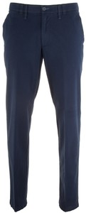 MENS Meran Modern-Fit Contrasted Flat-Front Broek Royal Blue