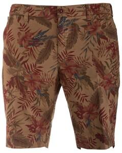 MENS Modern-Fit Flowered Kuba Shorts Bermuda Sand