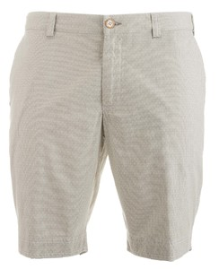 MENS Modern Fit Structured Kuba Shorts Bermuda Zand