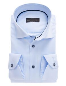 John Miller Tailored Cotton Stretch Shirt Licht Blauw