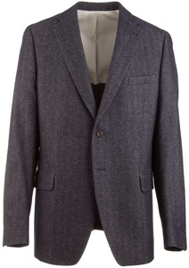 Migliore Navy Herringbone Jacket Colbert Navy