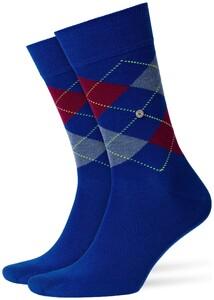 Burlington King Socks Steel Blue Melange