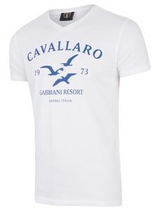 Cavallaro Napoli Gabbiani Tee Blauw