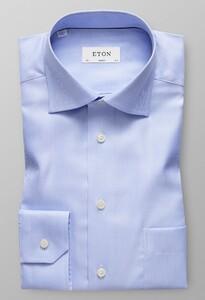 Eton Herringbone Twill Licht Blauw