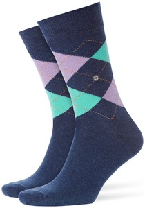 Burlington King Socks Dark Blue Soft