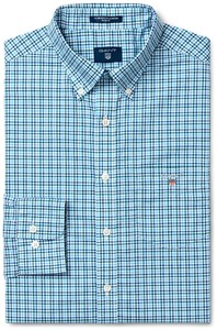 Gant The Broadcloth 3 Color Gingham College Blue