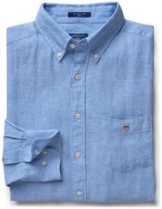 Gant The Slim Linen Shirt Capri Blue