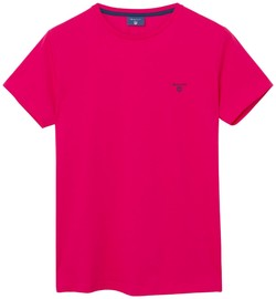 Gant Contrast Logo T-Shirt Rose Red