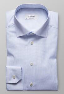 Eton Poplin Micro Print Licht Blauw