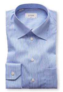 Eton Moderate Cutaway Stripe Diep Blauw