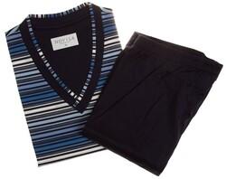 Novila Nightsky Stripes Nightwear Navy