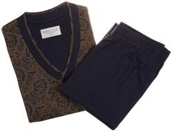 Novila Rich Paisley Nightwear Navy