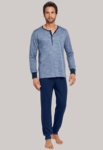 Schiesser Royal Garden Pyjama Blauwgrijs