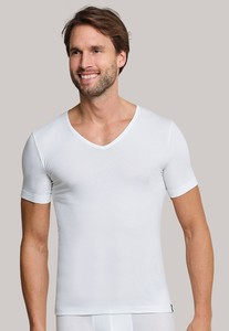 Schiesser 95/5 Shirt Korte Mouw V-Neck Wit