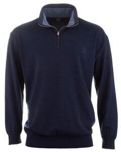 Paul & Shark Zipper Collar Thin Wool Rafblauw