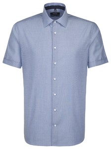 Seidensticker Business Short Sleeve Blauw