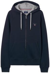 Gant Gant Original Full Zip Sweat Hoodie Avond Blauw