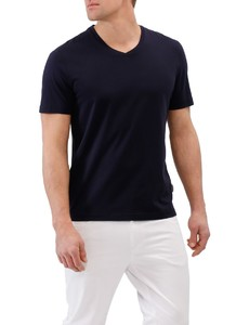 Maerz V-Neck Uni Shirt Navy